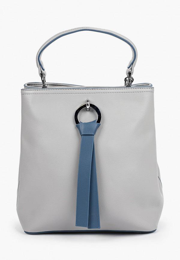 женская сумка с ручками elsi, серая