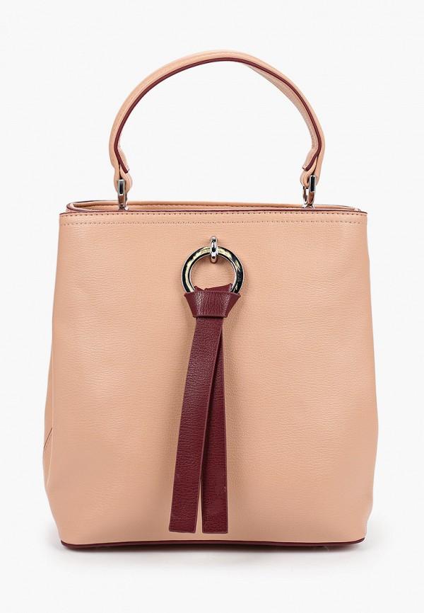 женская сумка с ручками elsi, бежевая