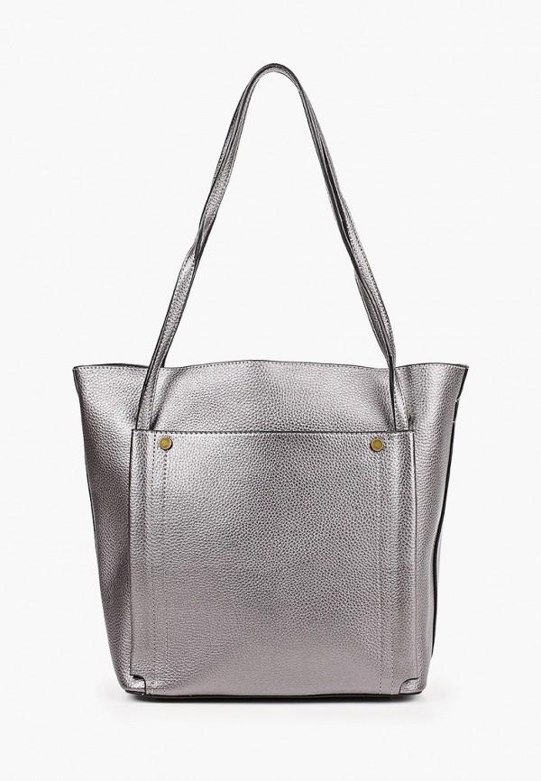 женская сумка elsi, серебряная