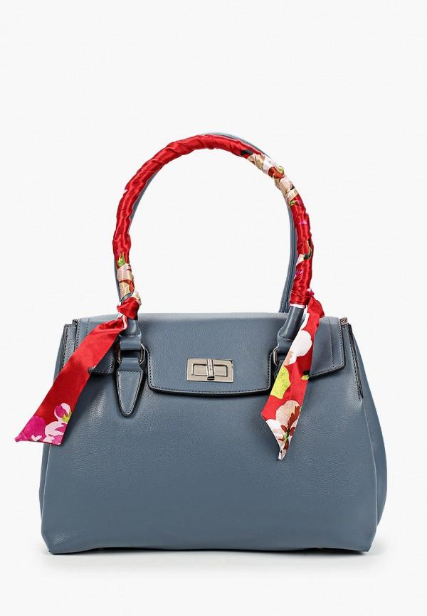 женская сумка с ручками elsi, голубая
