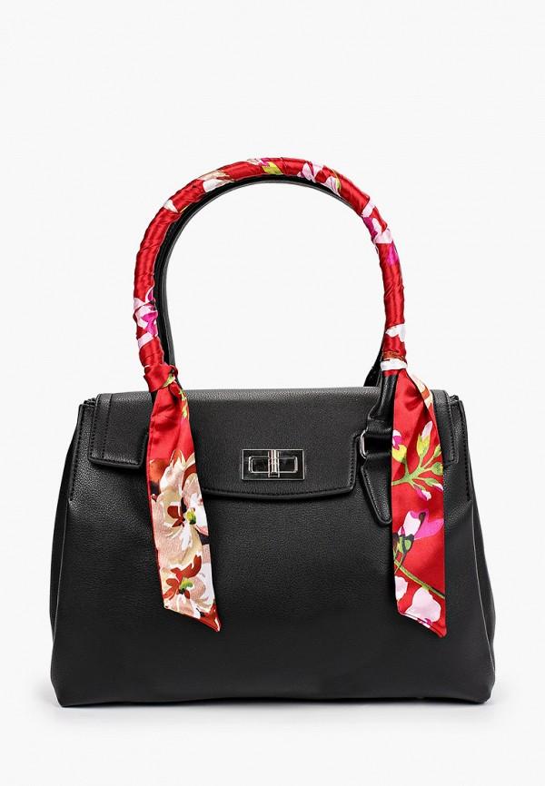 женская сумка с ручками elsi, черная