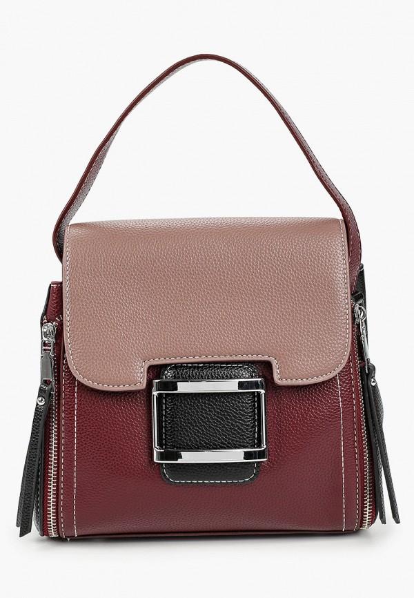 женская сумка elsi, бордовая