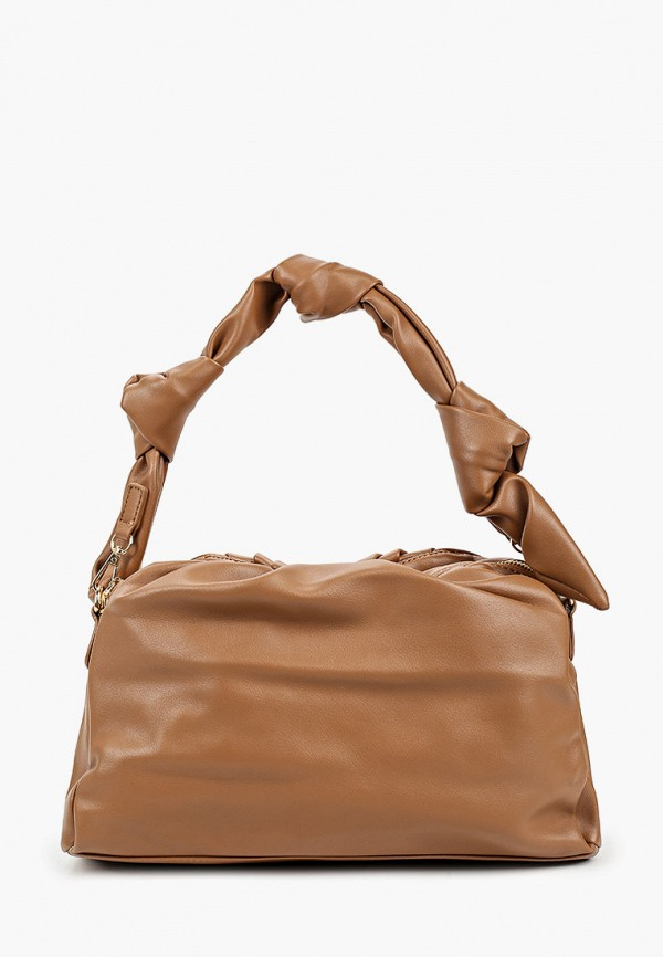 женская сумка с ручками elsi, коричневая
