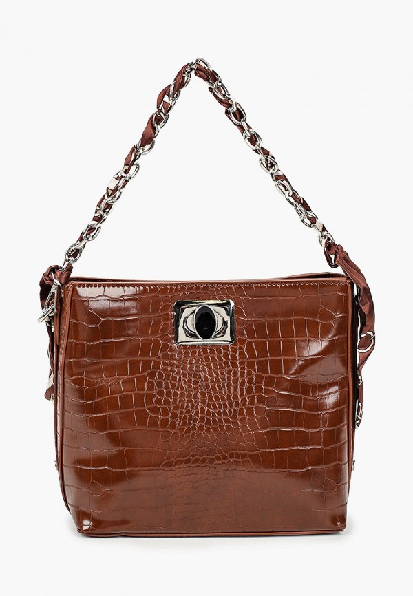 женская сумка через плечо elsi, коричневая