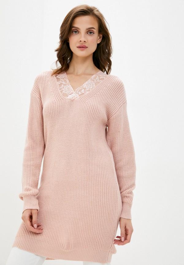 женская туника elsi, розовая