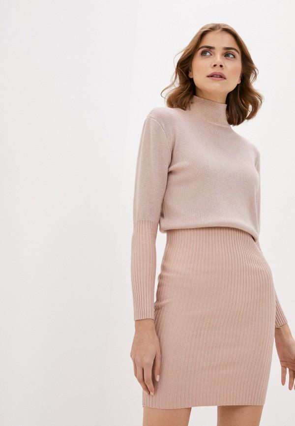 женское платье elsi, розовое