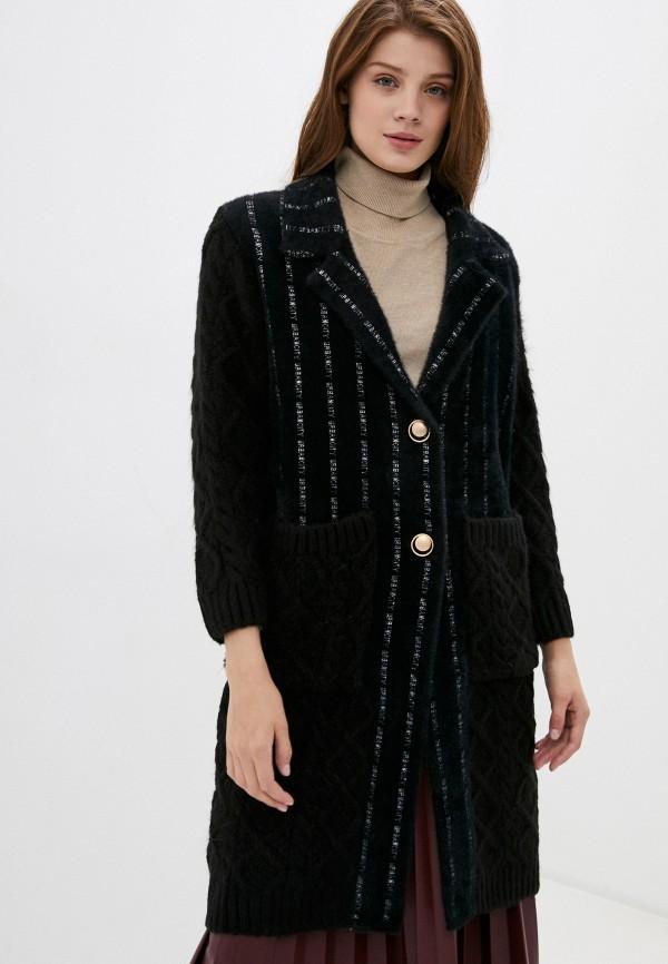 женское пальто elsi, черное