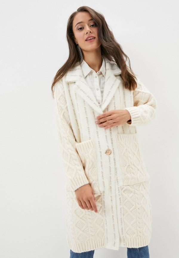 женское пальто elsi, белое