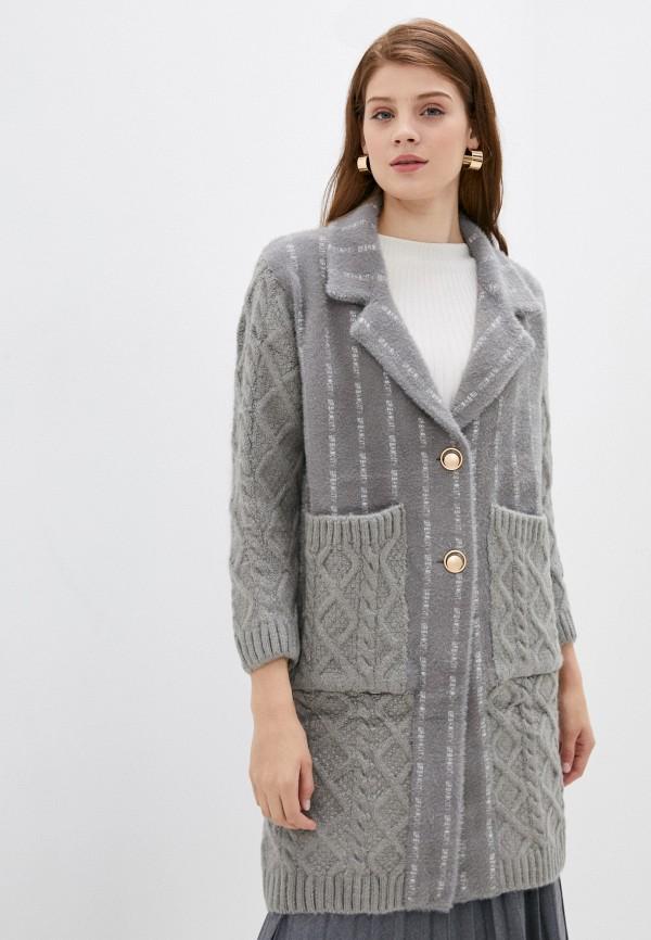 женское пальто elsi, серое