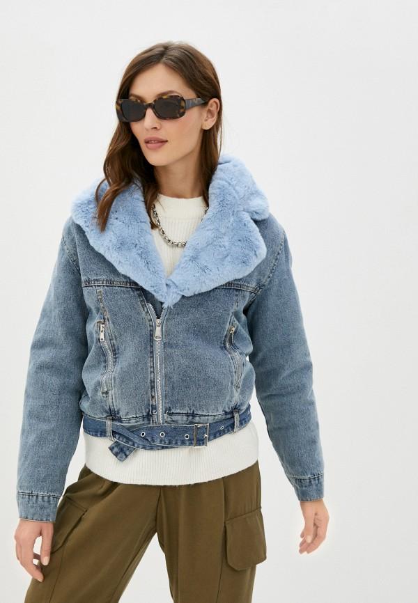 женская джинсовые куртка elsi, синяя