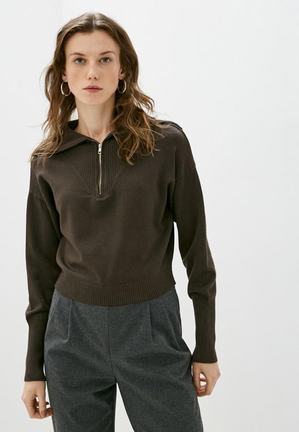 женская водолазка elsi, коричневая