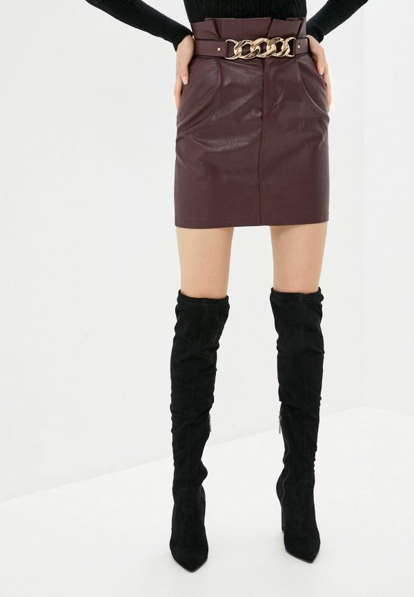 женская юбка elsi, бордовая