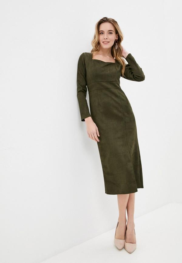женское платье-футляр elsi, хаки