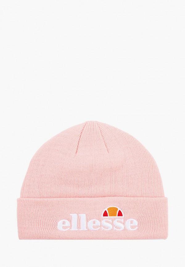 женская шапка ellesse, розовая