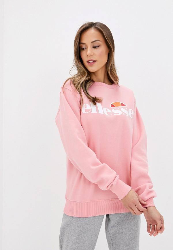 женский свитшот ellesse, розовый