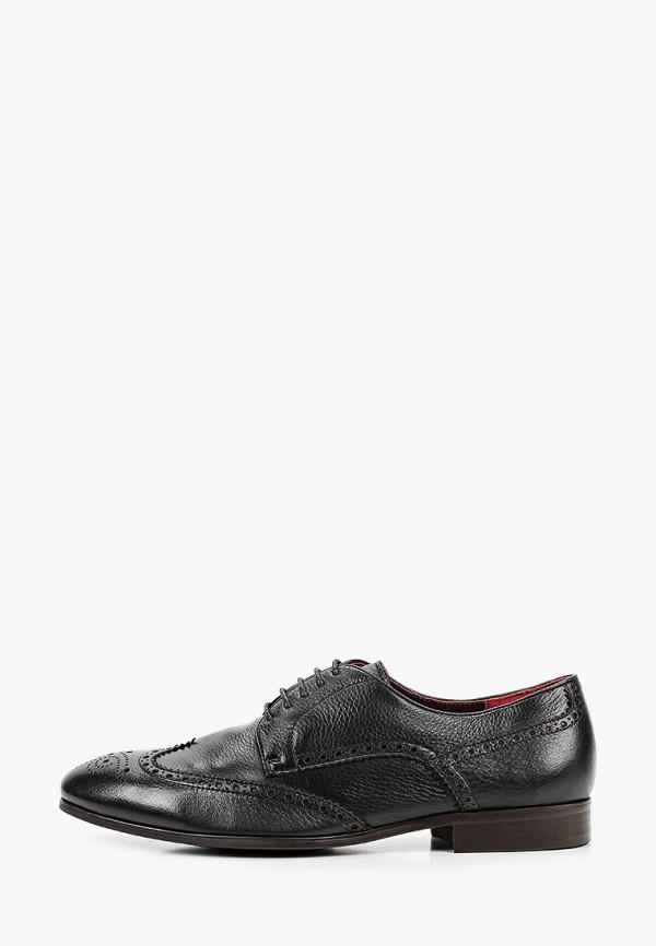 мужские туфли-дерби el'rosso, черные