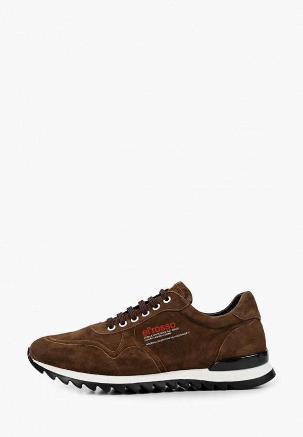 мужские низкие кроссовки el'rosso, коричневые