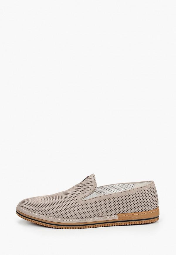 мужские низкие ботинки el'rosso, бежевые
