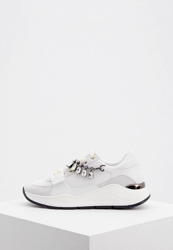 женские кроссовки elisabetta franchi, белые