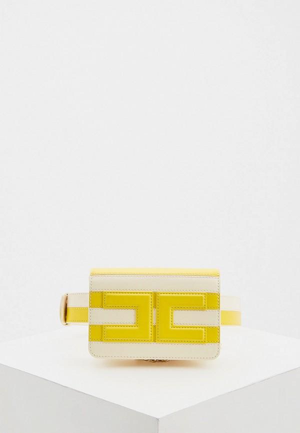 женская сумка elisabetta franchi, желтая