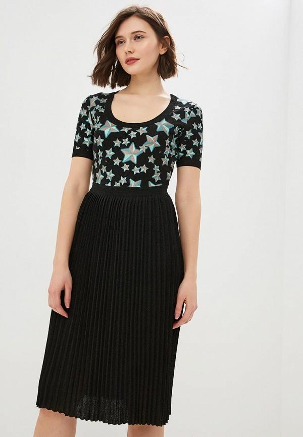 женское повседневные платье elisabetta franchi, черное