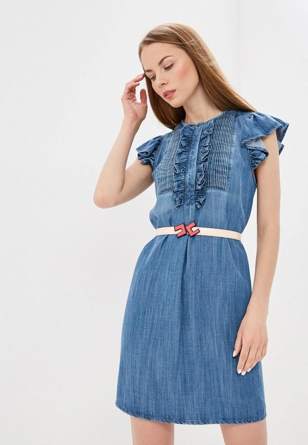 цены на Платье джинсовое Elisabetta Franchi Elisabetta Franchi EL037EWEDEE0  в интернет-магазинах