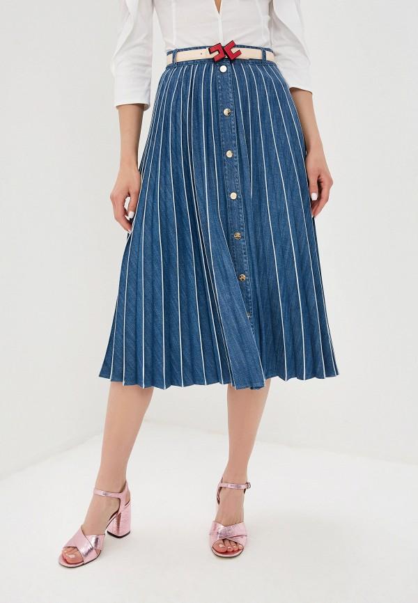 Юбка джинсовая Elisabetta Franchi Elisabetta Franchi EL037EWEDEI6 elisabetta franchi длинная юбка