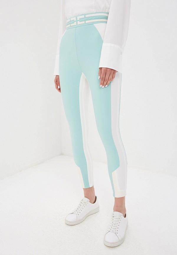 женские повседневные брюки elisabetta franchi, бирюзовые