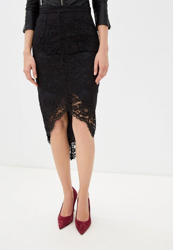 женская прямые юбка elisabetta franchi, черная
