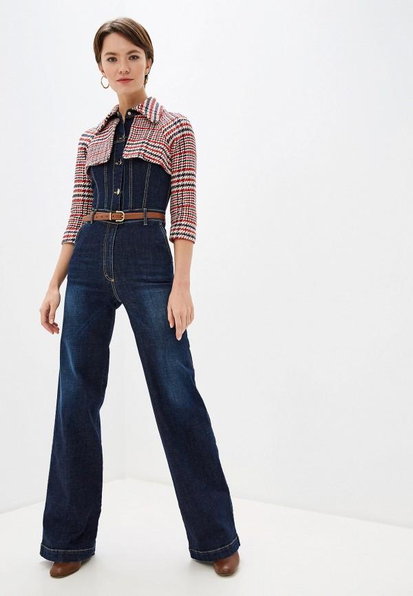 Комбинезон джинсовый Elisabetta Franchi Elisabetta Franchi EL037EWFMKN1 цена в Москве и Питере