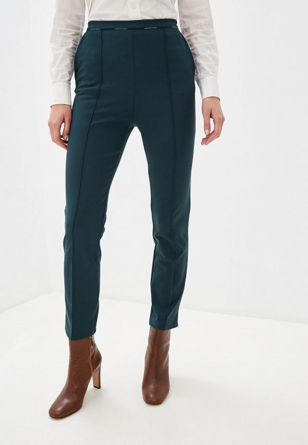 женские классические брюки elisabetta franchi, зеленые