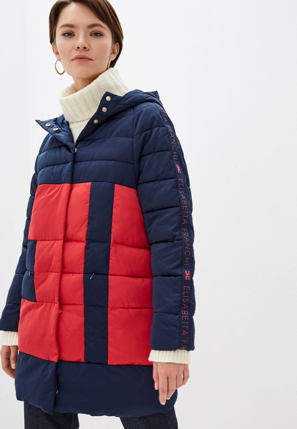 женская куртка elisabetta franchi, разноцветная
