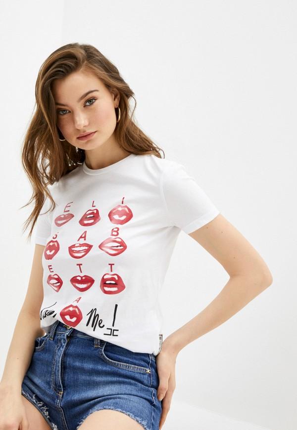 женская футболка elisabetta franchi, белая