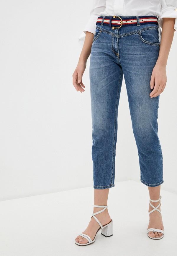 женские прямые джинсы elisabetta franchi, синие