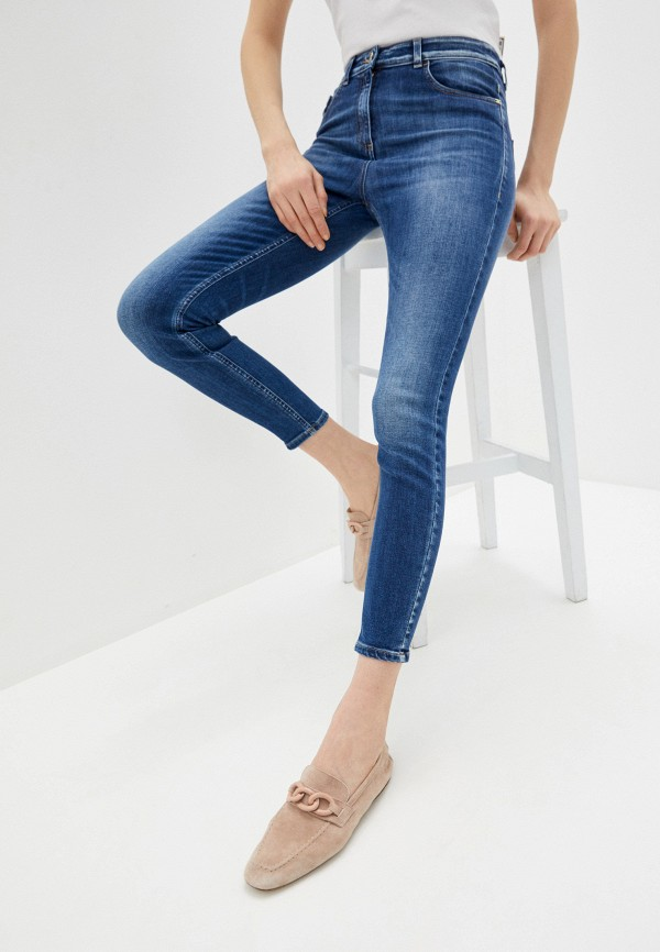 женские джинсы elisabetta franchi, синие