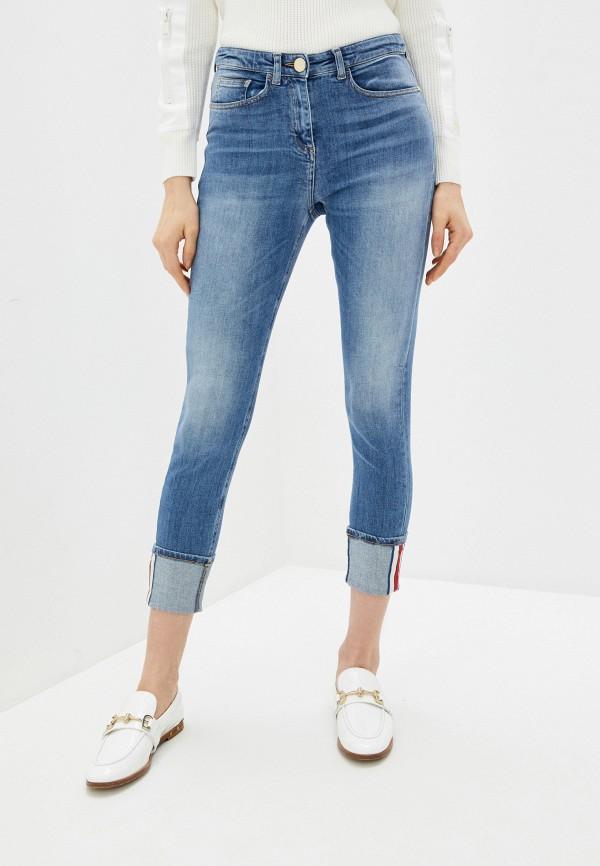 женские джинсы elisabetta franchi, голубые