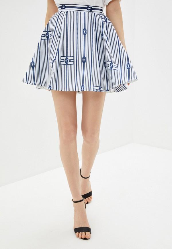 женская юбка elisabetta franchi, белая