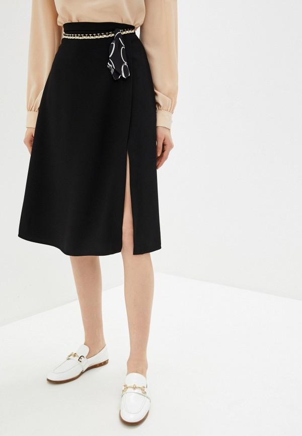 женская юбка elisabetta franchi, черная