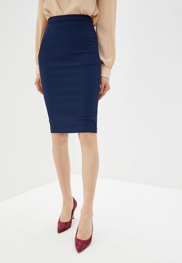 женская зауженные юбка elisabetta franchi, синяя