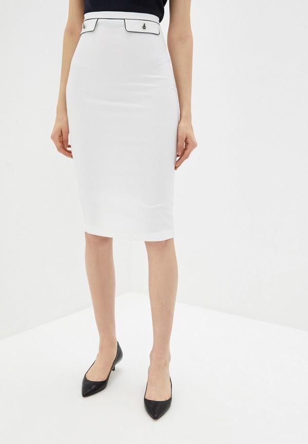 женская зауженные юбка elisabetta franchi, белая