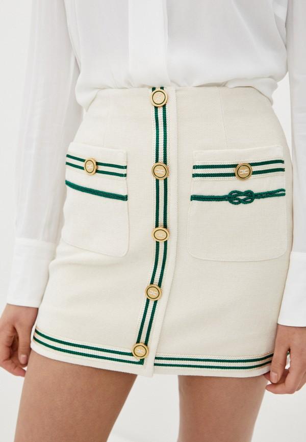 женская прямые юбка elisabetta franchi, белая