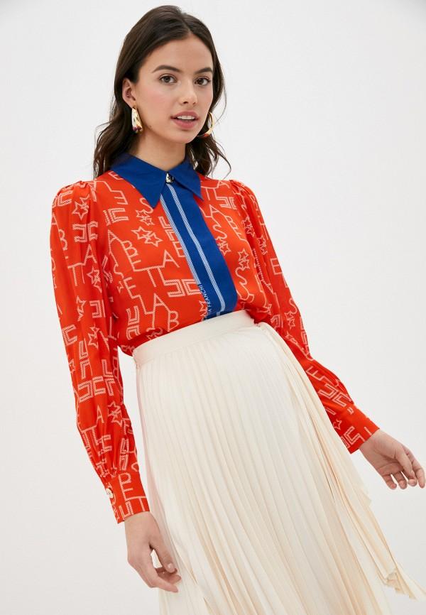 женская блузка elisabetta franchi, красная