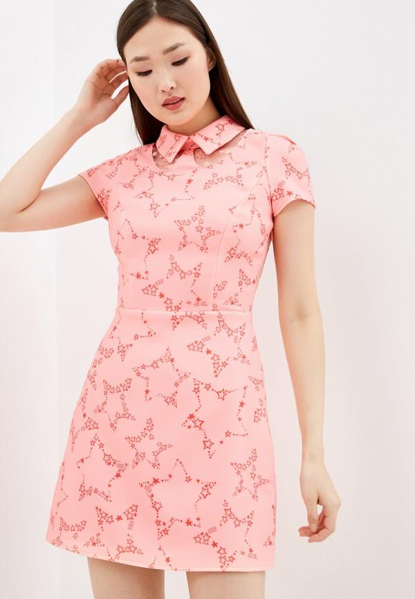 женское повседневные платье elisabetta franchi, розовое