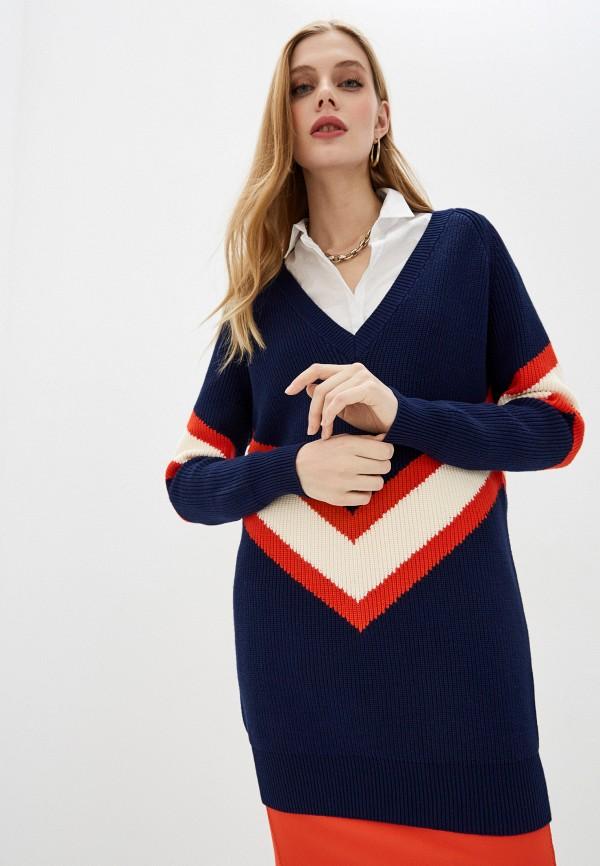 женский пуловер elisabetta franchi, синий
