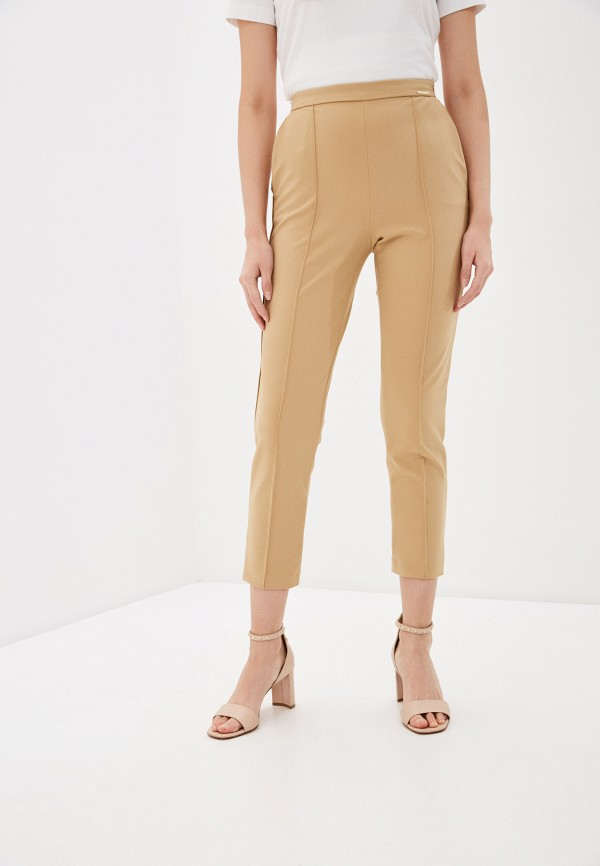 женские повседневные брюки elisabetta franchi, бежевые