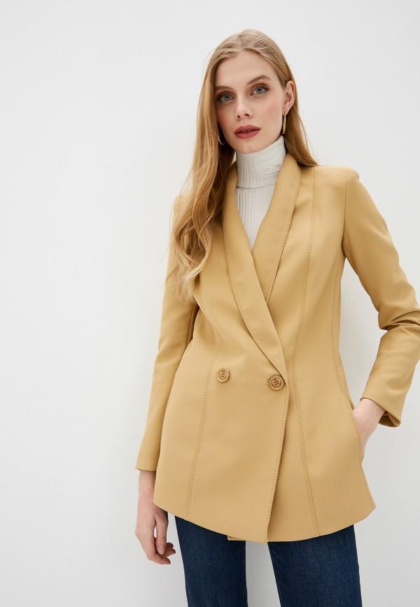 женский пиджак elisabetta franchi, бежевый