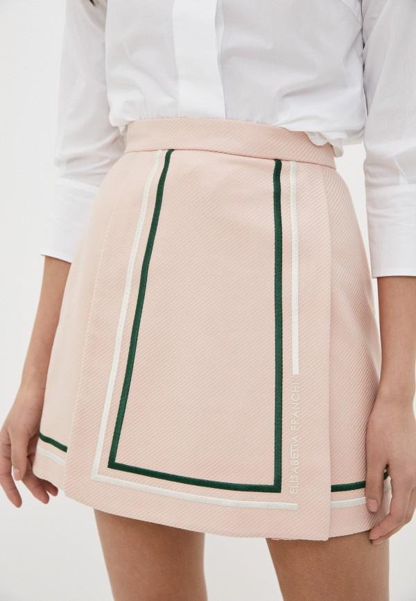 женская юбка elisabetta franchi, розовая