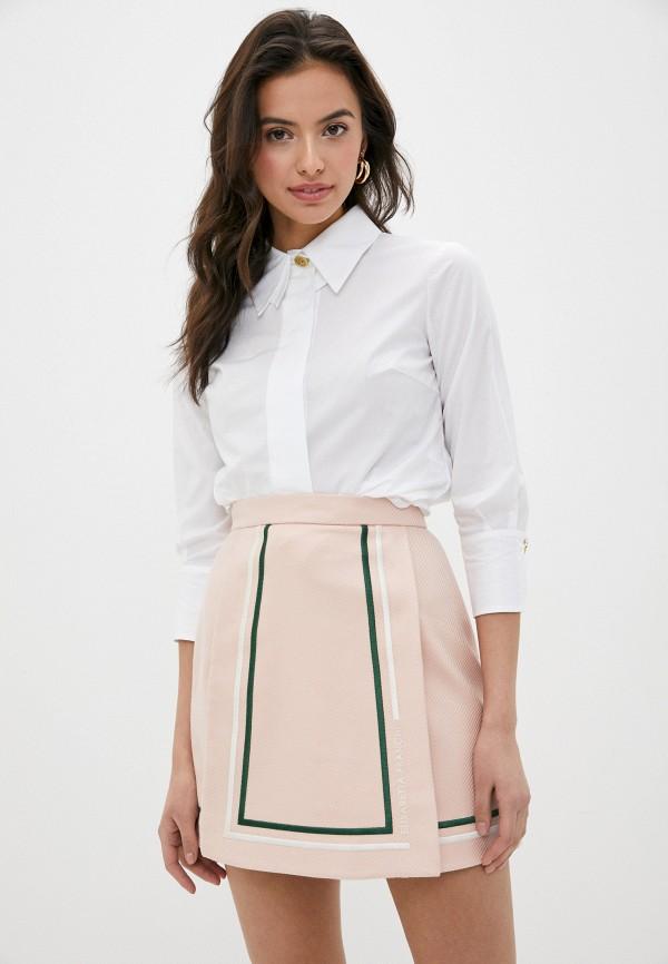 женская рубашка с длинным рукавом elisabetta franchi, белая