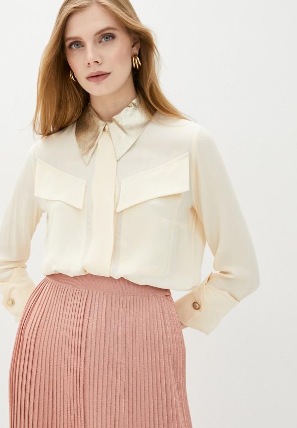 женская блузка elisabetta franchi, бежевая