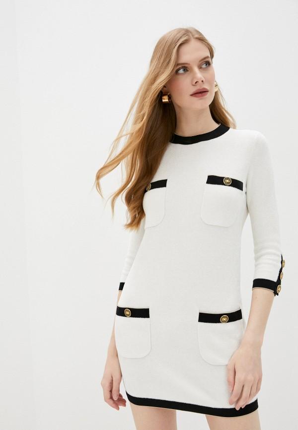 женское платье elisabetta franchi, белое